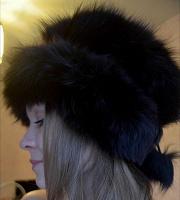 Отдается в дар Женская меховая шапка