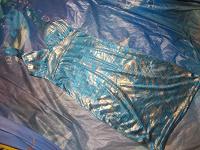 Отдается в дар Платье голубое с золотом