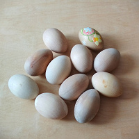 Отдается в дар Заготовки деревянные — яйца