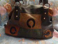 Отдается в дар сумка кожаная разноцветная