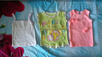 Отдается в дар Майки и футболка для девочки на 1-2 года