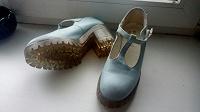 Отдается в дар Голубые туфли