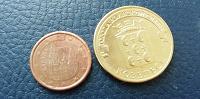 Отдается в дар Монеты гвс козельск и 1евроцент испании