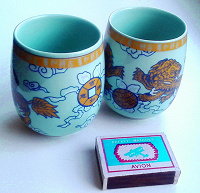 Отдается в дар 2 китайских стакана с драконами