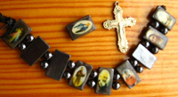 Отдается в дар православие: браслет гематит и иконы