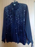 Отдается в дар Рубашка женская черная — большой размер прим. 52-54