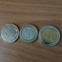 Отдается в дар Набор 50, 100 и 500 песо Чили