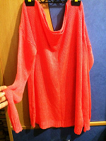 Отдается в дар Яркий джемпер, сеточка, размер 48-50-52