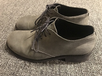 Отдается в дар Серые кожаные мужские ботинки 43 размера