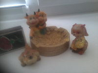 Отдается в дар Милые керамические фигурки