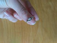 Отдается в дар Серебряное кольцо с фианитом