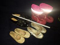Отдается в дар пакет б/у обувки на девочку