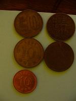 Отдается в дар Разные иностранные монетки