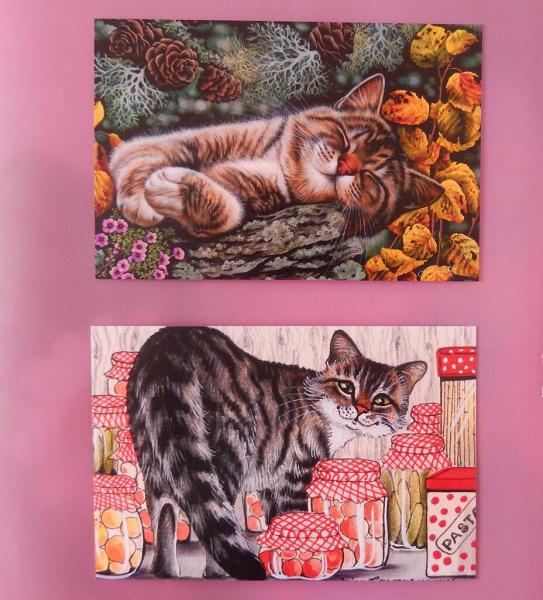 почтовые открытки кошка полыхало