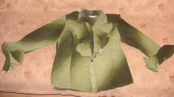Нарядная блузка для девушек в теле