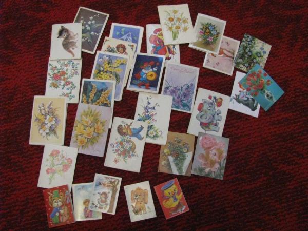 Отдам даром открытки и календарики, открытки февраля