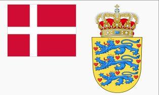 картинки флага и герба дании человеком