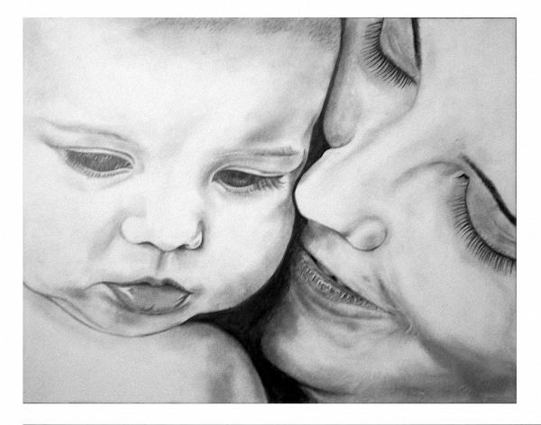 красивые рисунки мама с младенцем каждом магазине