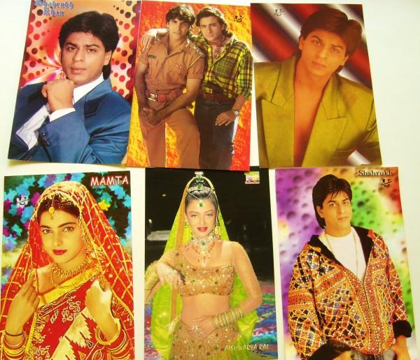 Продать открытки с индийскими актерам