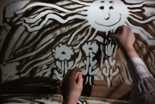 ❤ Мои руки и SAND ART (песочная анимация)