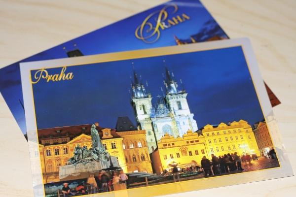 как отправить открытку в россию из праги она