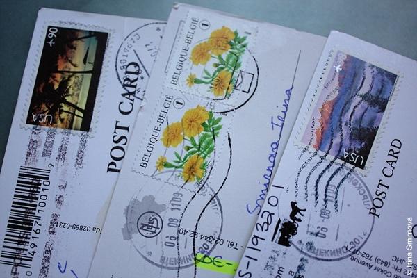 Послать открытку другую страну