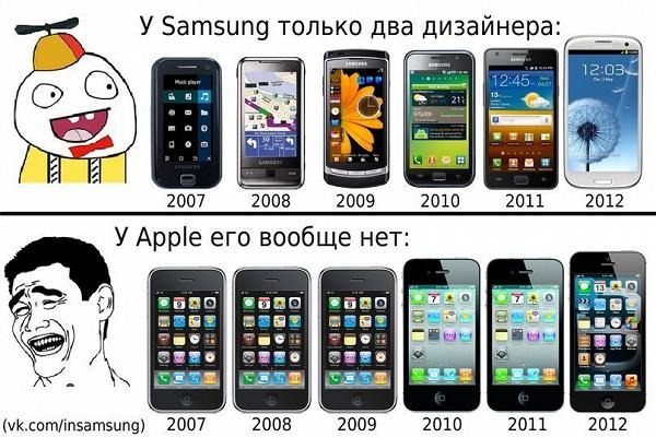 картинки про самсунг против айфона подумать смысле