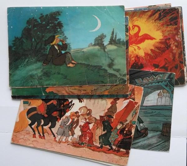 Слепая смешные, набор открыток конек-горбунок