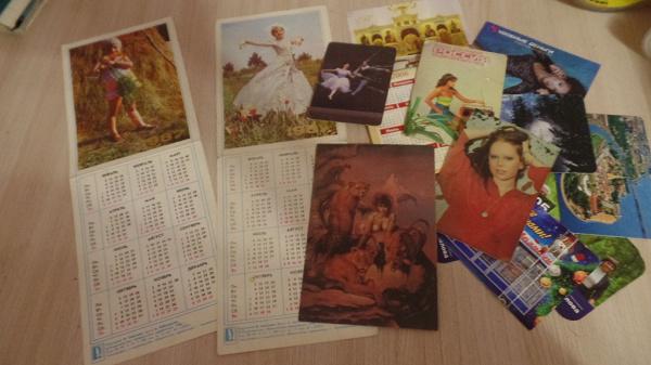 Отдам даром открытки и календарики
